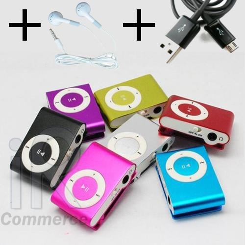 Mini MP3 Player mit Clip + Zubehör nur 5.80€ inkl. Versandkosten