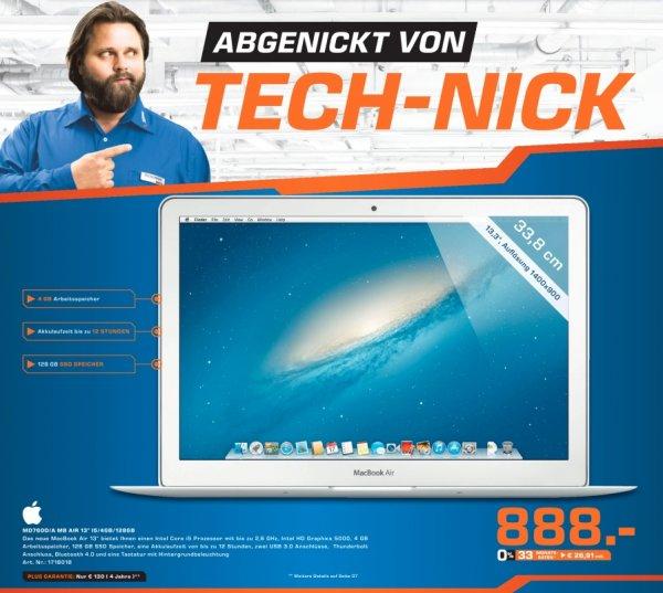 (lokal) Saturn Moers: Apple MacBook Air (MD760/D) 888 € (idealo.de: 945,25)