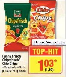 [Metro] Funny Frisch Chipsfrisch verschiedene Sorten je 175g Tüte