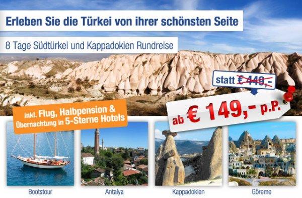 Türkei-Rundreise 8-Tage inkl. Flug und Halbpension ab 149€ statt 449€ pro Person