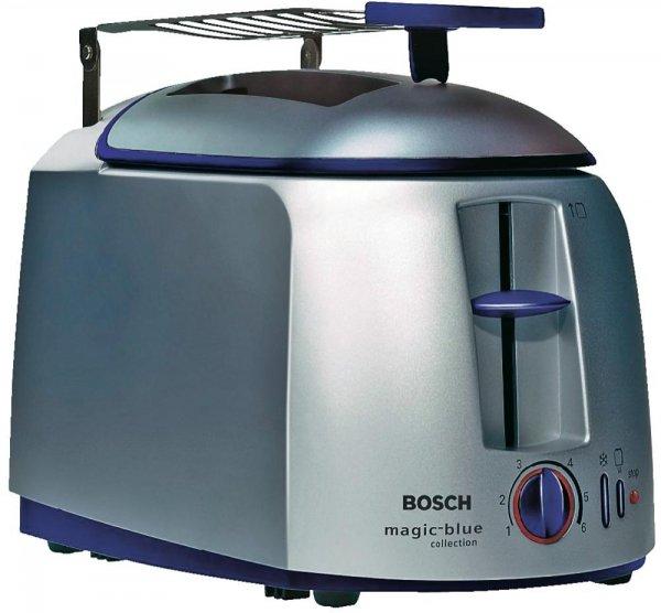 Frühstücksstress durch 4 Scheiben Toast? 2 x Bosch Toaster TAT4620 Silber-Blau 950 W zu je 21,11€ @digitalo.de