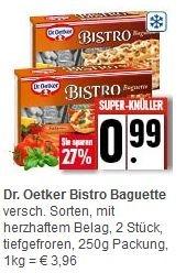 [Edeka] Dr. Oetker Bistro Baguette versch. Sorten für 0,99 (mit scondoo für 0,49)