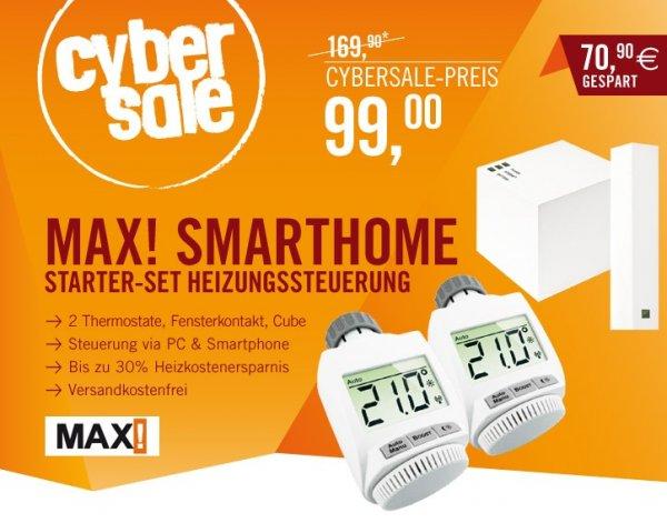 MAX! SmartHome Start Bundle Heizungssteuerung für 99€ @Cyberport