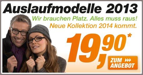Super Brille in meiner Sehstärke zum Schnäppchenpreis für 19.90 Euro bei brillen.de