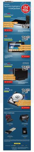 2000 GB Poppstar NE30 USB 3.0 für 60,99 Euro Samsung 1000 GB Samsung HN-M101MBB für59,99 Euro