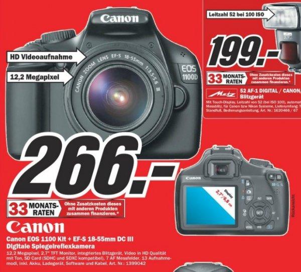 Canon EOS 1100D Kit 18-55 mm IS II 266€ Lokal [Mediamarkt Dorsten]