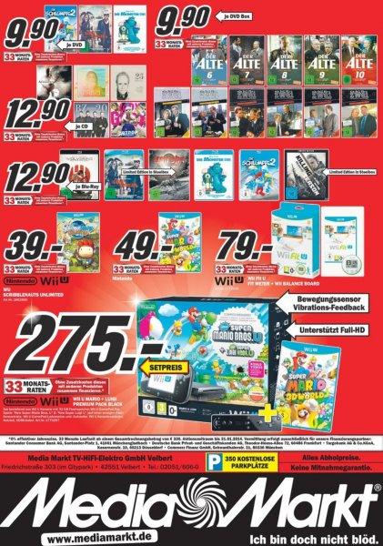 [Lokal] Wii u Mario + Luigi Premium Pack Black + Super Mario 3D World + Wii Remote plus @ Media Markt Velbert