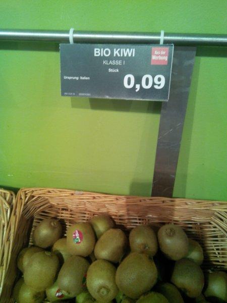 Wieder da? Bio Kiwis, 9 Cent bei Edeka in Hannover