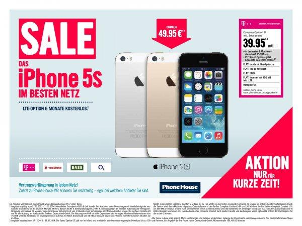 iPhone 5s für 39,95€ / Monat