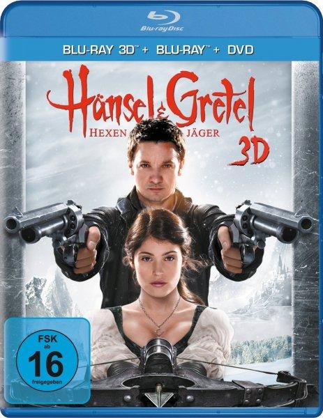 Hänsel und Gretel: Hexenjäger (Blu-ray 3D + Blu-ray Extended Cut + DVD) 19,51€ + 3€ VSK ohne Prime @ Amazon