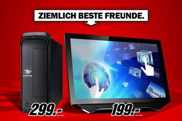 [mediamarkt] Multi-Touch PC + 23 Zoll Monitor (PACKARD BELL iMedia S + HANNS.G HT 23)