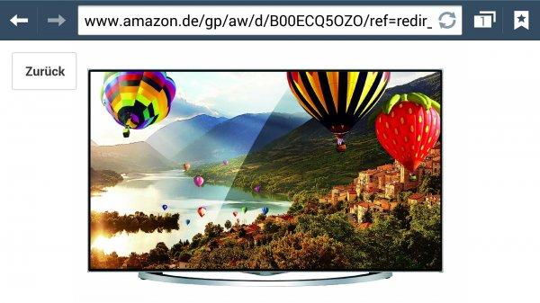 Amazon.de Hisense LTDN58XT880 146 cm für 1349€ (58 Zoll) 3D LED-Backlight-Fernseher, EEK A 4k (Ultra HD, 600Hz SMR, DVB-T/C/S2, CI+, Smart TV, HbbTV, WLAN) silber/schwarz idealo 1799€