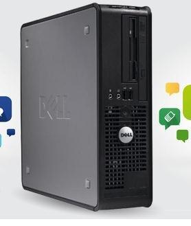 """Der Gäste-PC Dell Optiplex 740 SFF, 98.00 € statt 439.00 € inkl. Versand, """"Refurbished"""""""