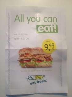 [Lokal Aschaffenburg ? ]  Subway All you can eat !