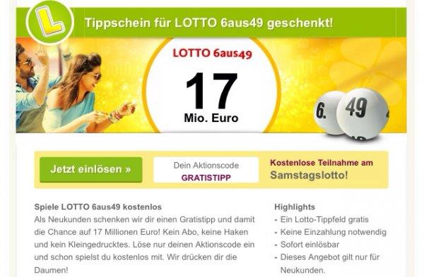 [Lottoland24] Gratis Lottofeld für Samstag