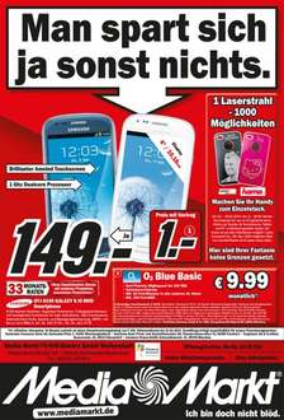 [Lokal MM Weiterstadt] Samsung Galaxy S3 Mini