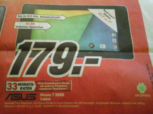 (Lokal) Asus Nexus 7 WiFi 32 GB Tablet für 179 € @Media Markt Ludwigsburg