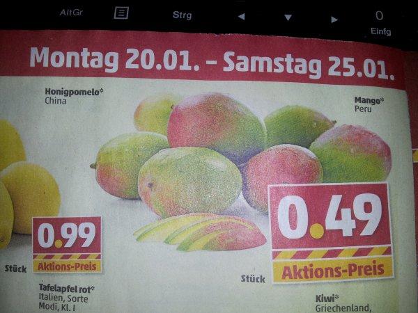 [Offline] lokal? Mango bei Penny Markt für 0,49€ / Stk. ab dem 20.01.