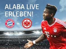 """2 TICKETS für das Spiel """"FC Bayern : Eintracht Frankfurt"""" am 02.02.2014 in der Allianz Arena 17:30 Uhr als NEUKUNDE der HVB (z.B. für Sparkontoeröffnung, also KOSTENLOS)"""