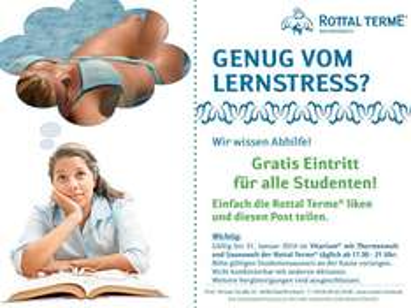 Kostenloser Eintritt in die Rottal Terme Bad Birnbach für Studenten