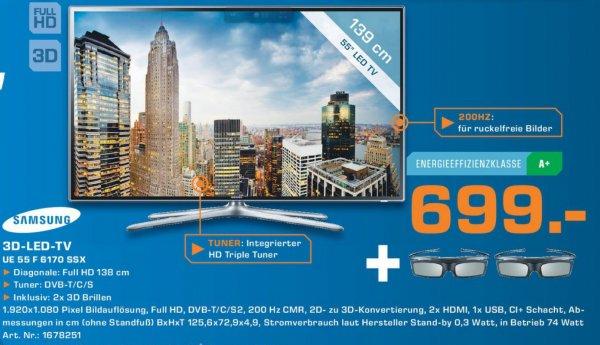 Samsung UE55F6170 138 cm 699€ Lokal [Saturn Porz]