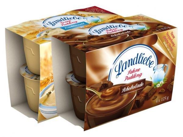 Landliebe Grieß-/ Sahnepudding 4er Pack (600g) für 0,99€ bei Lidl