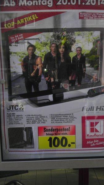Kaufland Monheim und weitere Filialen  Köln, Siegburg usw. - ab 20.01 - 21,5 Zoll = 54 cm FULL HD Fernseher von JTC  -- 100€ --