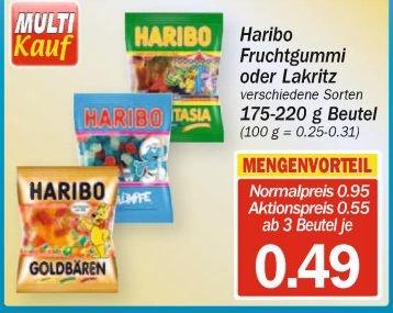 [Hit-Markt] Haribo ab 3 Beuteln 0,49€ je Beutel