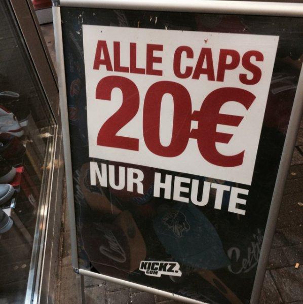 [lokal] Alle Caps im Kickz in Köln 20€! ALLE CAPS!