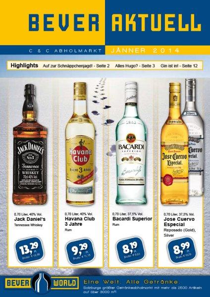 Salzburg: Jack Daniel's 0.7l für 15.95€