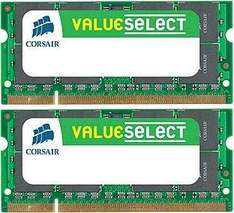 [Tradoria.de] Notebook-Hardware : 2x4GB (8GB) DDR3-1066 Corsair ValueSelect für 45,52EUR inkl. Versand