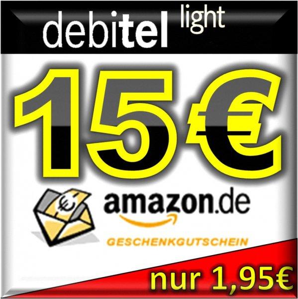 PRÄMIENERHÖHUNG: 15,00 EURO AMAZON-Gutschein für 1,95 Euro mit debitel light SIM-Karte