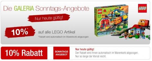 Heute 10% Rabatt auf alle LEGO Artikel bei Kaufhof.de