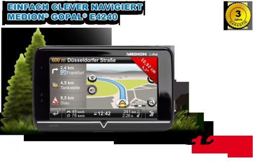 "10,92 cm / 4,3"" Navigationssystem MEDION® GoPal® E4240 @ALDI"
