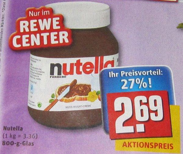 [Lokal Jena?] Nutella 800g für 2,69€ Rewe Center ehem. Toom