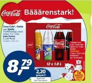 Gratis Coca Cola Polarbär (ca 10cm) beim Kauf eines 12x1l Kasten