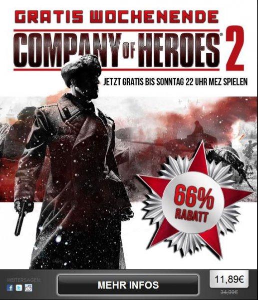 Company of Heroes 2 direkt bei Steam 11,89€