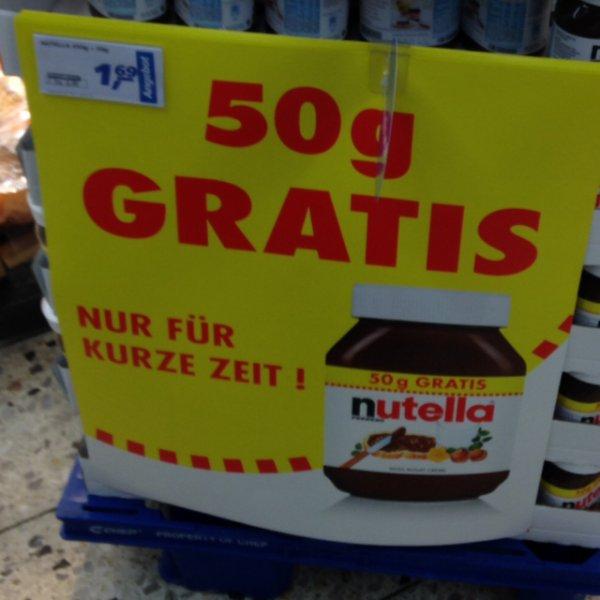 500g Nutella für 1,69€ bei Real