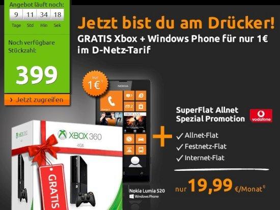 Crash-Tarife.de - Allnet-Flat im D-Netz mit Smartphone und Spielekonsole für 19,99 Euro