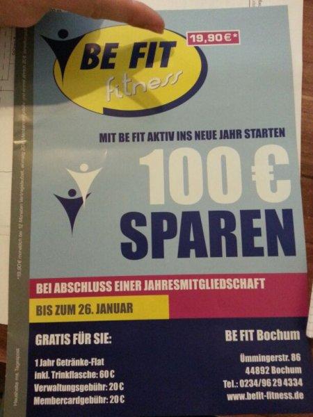 BeFit - (Jahresmitgliedschaft inkl. Getränkeflat ) evtl. lokal