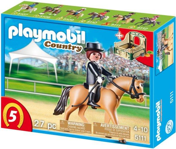 Playmobil™ - Deutsches Sportpferd mit grün-beiger Pferdebox (5111) ab €4,87 [@Karstadt.de]