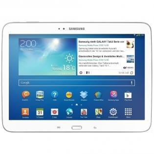 Samsung Galaxy Tab 3 10.1 Wi-Fi White Tablet + GRATIS microSDHC-Karte (32 GB)x09