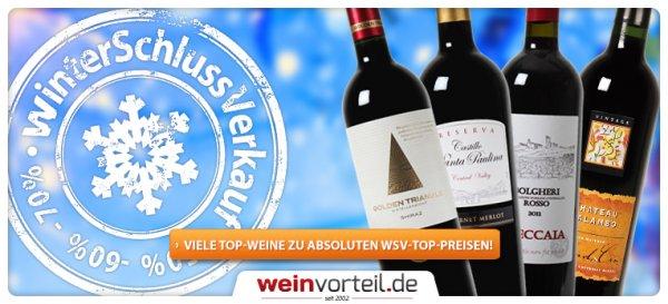 Weinvorteil.de hat einen WSV gestartet bei dem ihr gut sparen könnt.