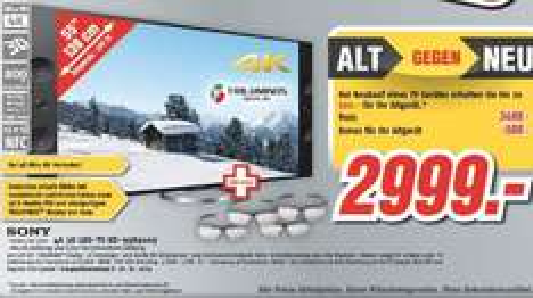 Sony KD-55 X9005A - 4K TV [MediMax - mit etwas Aufwand durch Alt gg. Neu] - 2.999 EUR zzgl. Altgerätepreis