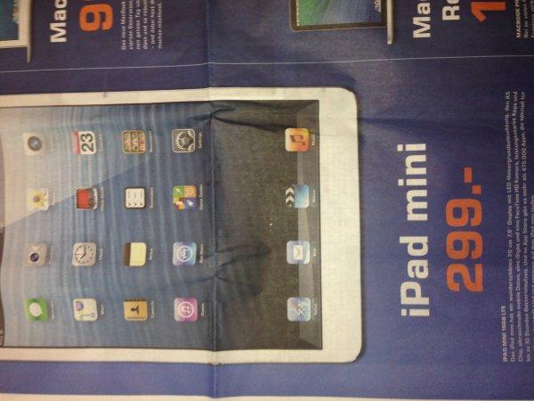 Apple iPad mini 16GB LTE für 299€, lokal, Saturn Stuttgart, weitere Apple Produkte