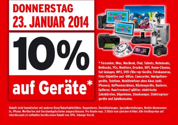 iPad mini 2 Retina 16GB WiFi für ~320 € bei interdiscount (Schweiz & Grenzgänger) dank 10% am 23.01.2014