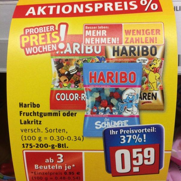 [Rewe (lokal? Meckesheim)] Haribo 37% Rabatt - beim Kauf von 3 Tüten á 200g