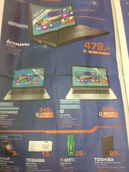 """[Lokal] Toshiba Externe 2TB 2,5"""" Platte mit USB 3.0 für 89€, Saturn Stuttgart, weitere Angebote im Text"""