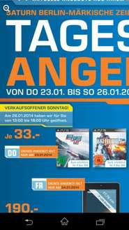 (Lokal Berlin) nur am 23.01 Need for Speed Rivals & Battlefield 4 für PS3 & Xbox 360