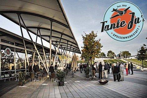 (Lokal München Flughafen) - Tante Ju's Speisewerkstatt  € 50,00 Gutschein für € 27,00